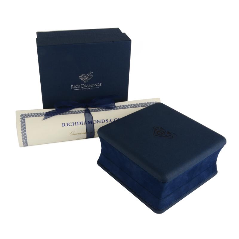 CartierWhite Gold Half Diamond Love Bracelet Size 16 B6014016